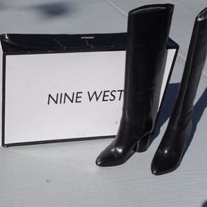 Nine West Leather Boots - Black - 7 - New In Box